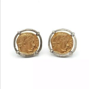Chico's Faux Coin Clip Earrings
